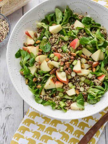 Detox Quinoa Salad with Turmeric Tahini Dressing