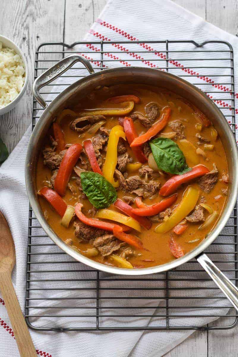 Easy Beef Curry - full of smoky, spicy flavor and ready in less than 30 minutes. {gluten free}