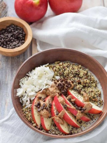 Apple and Almond Butter Breakfast Quinoa