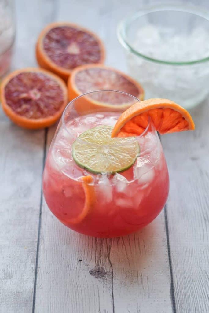 Blood Orange Crush with oranges
