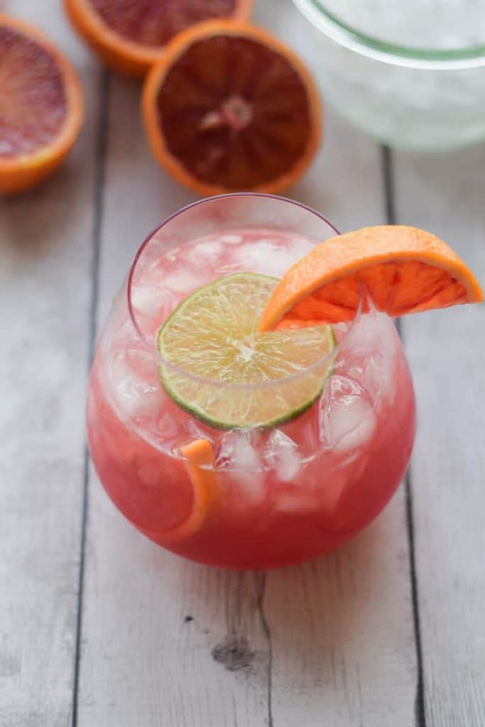 Blood Orange Crush with limes