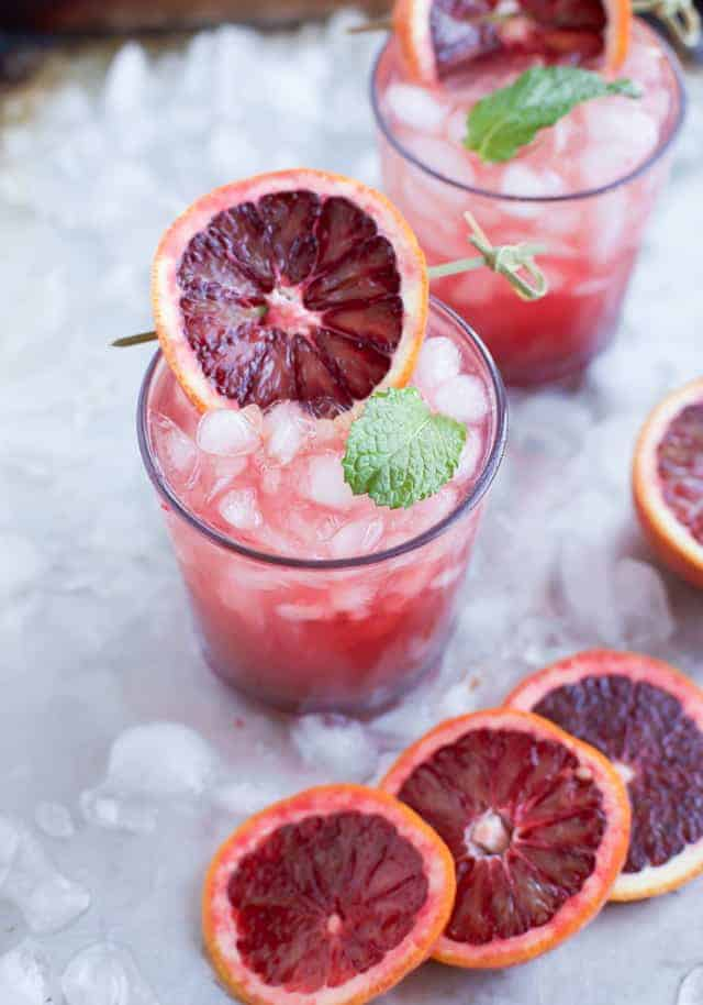 Blood Orange Wine Spritzer