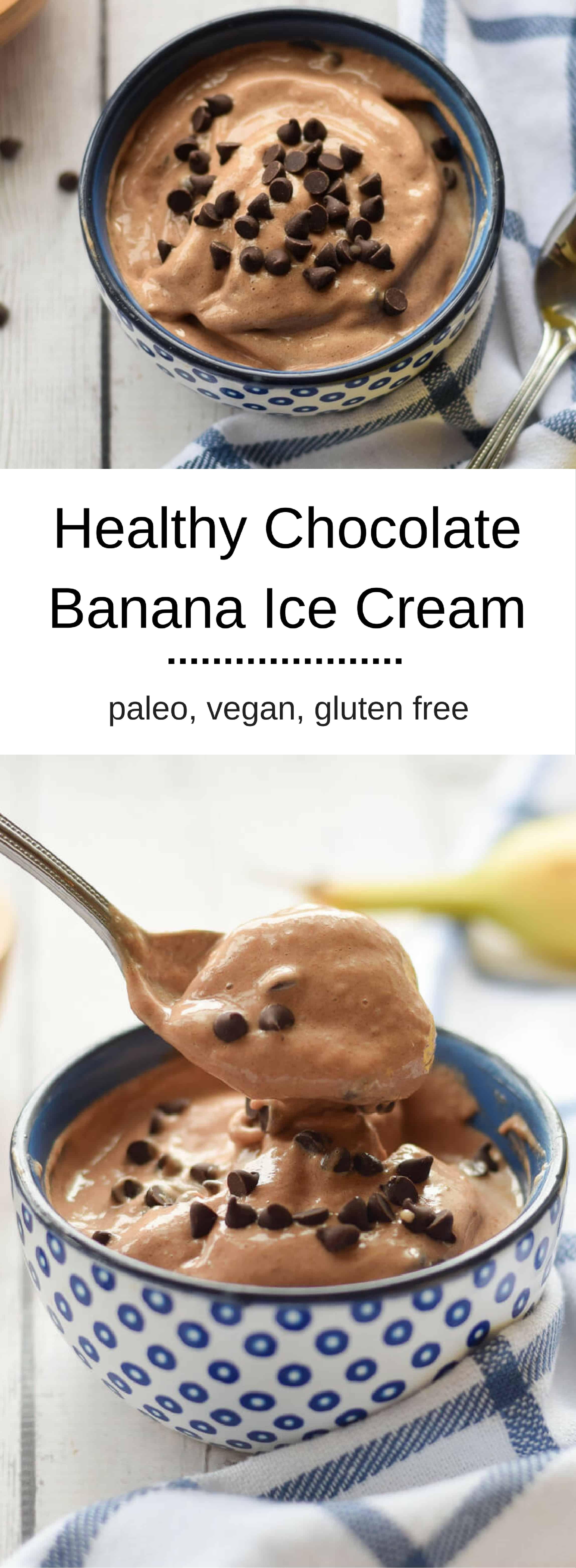 Healthy Chocolate Banana Ice Cream
