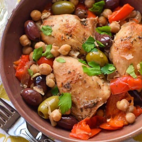 Slow Cooker Chicken with Olives and Peppers