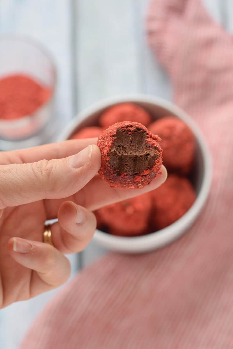 Ingredient Paleo Chocolate Truffles - Made with coconut cream for a rich, paleo, vegan chocolate candy. {paleo, gluten free, dairy free, vegan}
