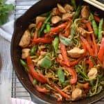 Chicken Thai Basil with Zucchini Noodles