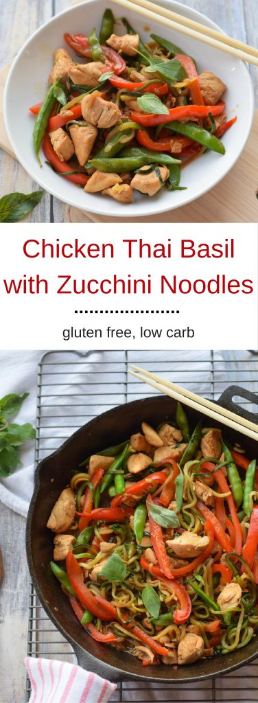Chicken Thai Basil with Zucchini Noodles