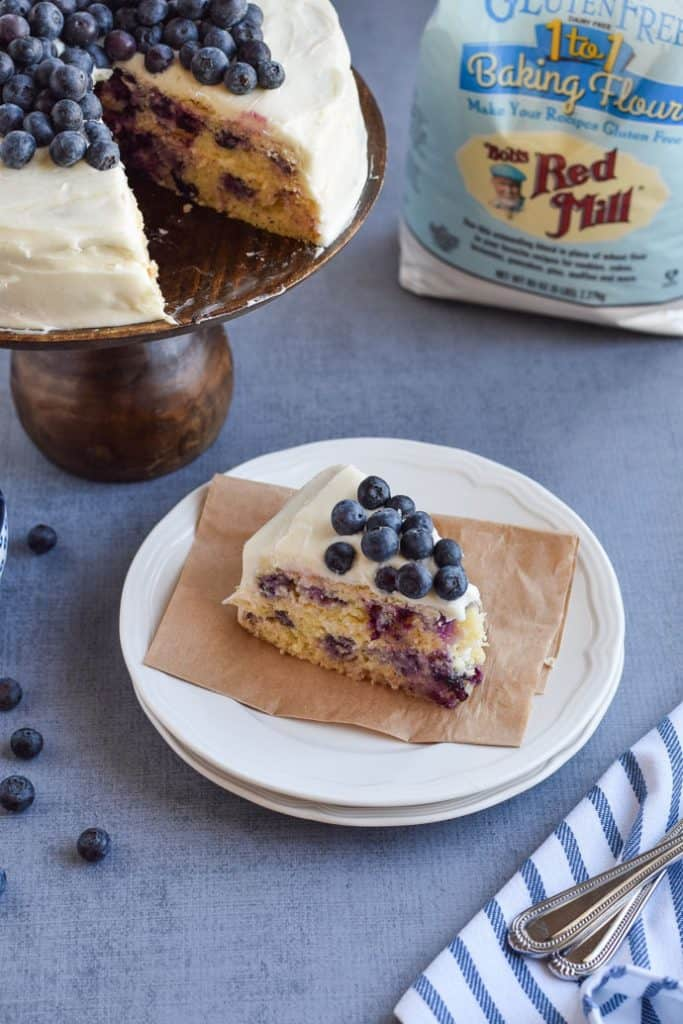 Gluten Free Blueberry Cake with Bob's Red Mill Flour