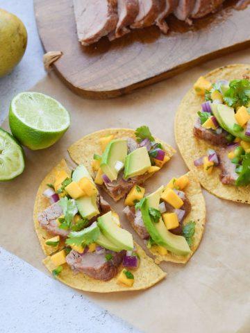 Pork Tostadas with Mango Salsa