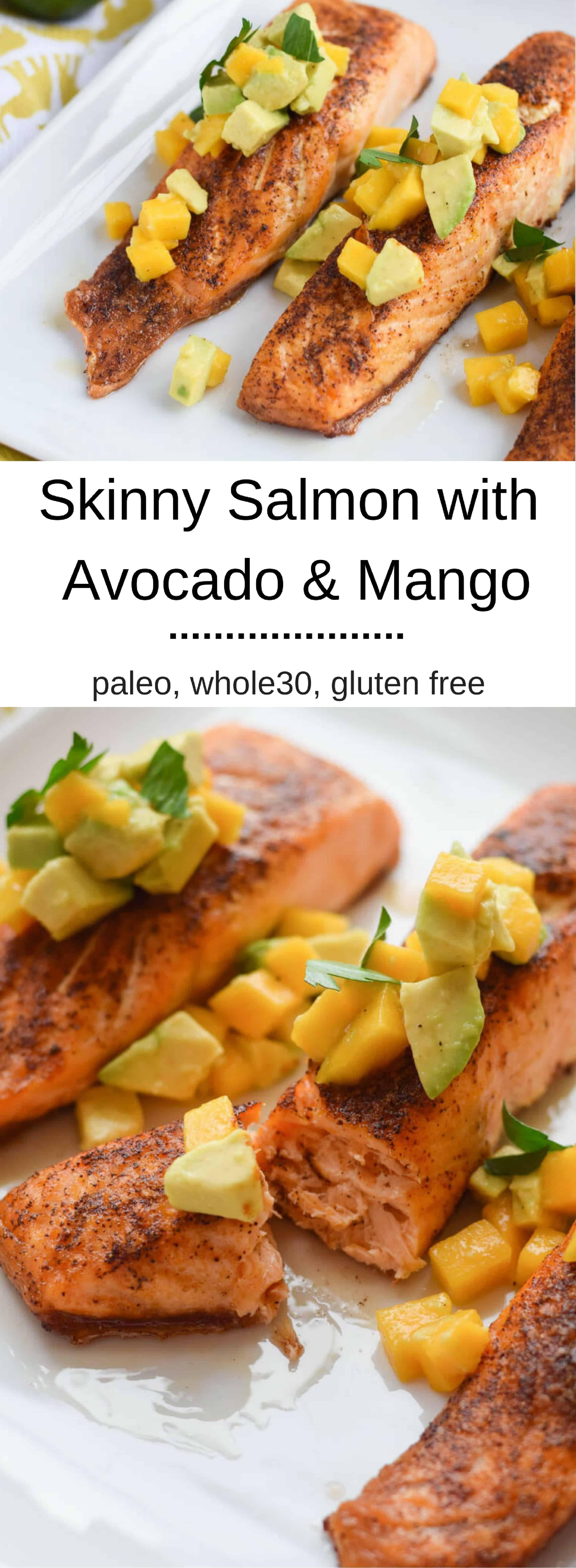 Skinny Salmon with Avocado and Mango