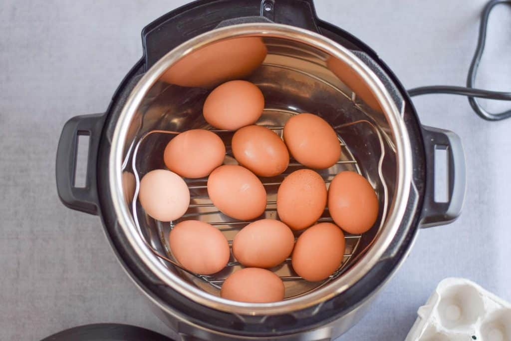 Easy Peel Hard Boiled Eggs - Instant Pot - high protein snack made quickly and easily in instant pot