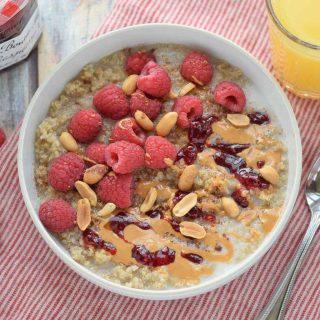Peanut Butter and Preserves Breakfast Quinoa