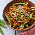 Sweet Potato Noodle Stir Fry with Steak