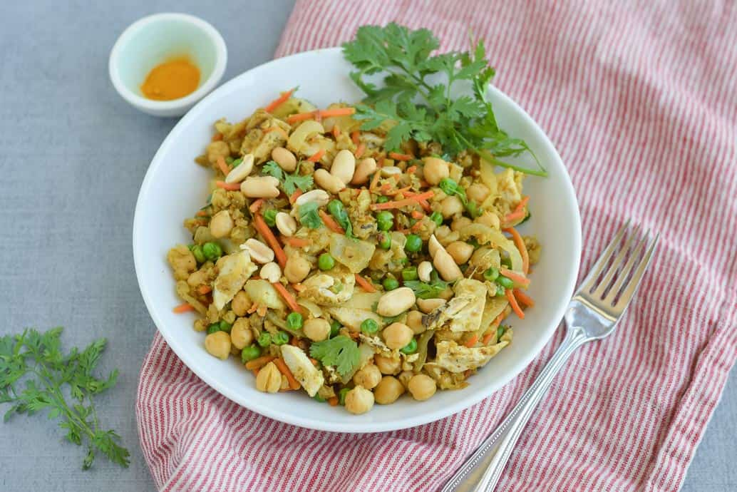 Indian Cauliflower Rice packed with veggies and Indian spices. seasonalcravings.com #glutenfree #lowcarb #cauliflowerrice