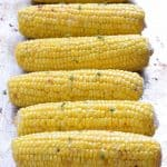 Oven Roasted Corn with butter and thyme