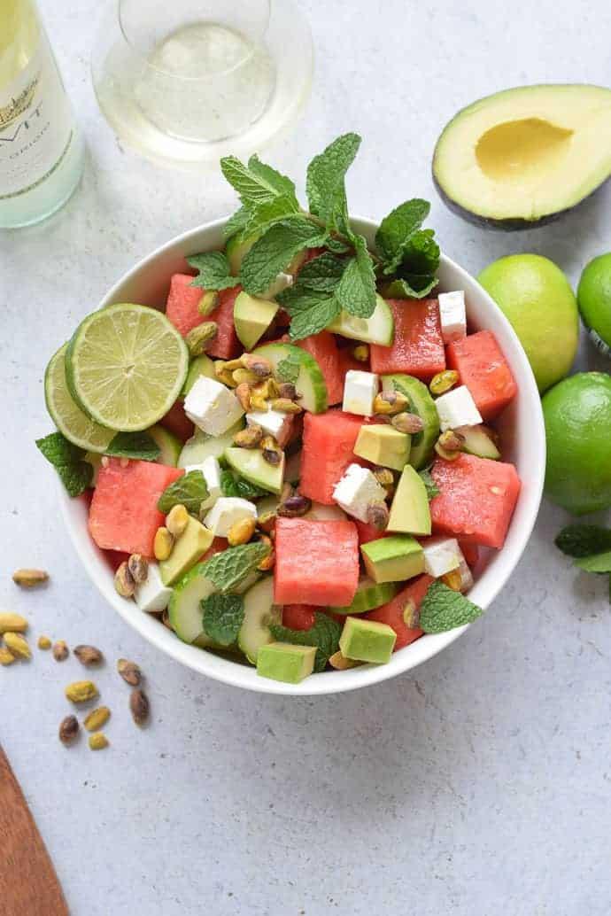 watermelon feta and cucumber salad seasonal cravings. Black Bedroom Furniture Sets. Home Design Ideas