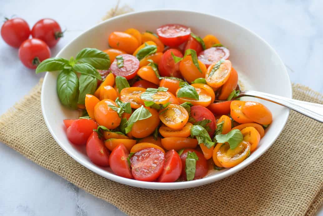 Marinated Tomato Basil Salad