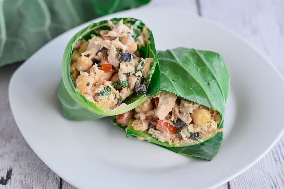 Tuna Salad Collard Wrap
