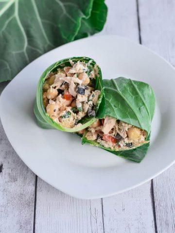 Tuna Salad Collard Wrap