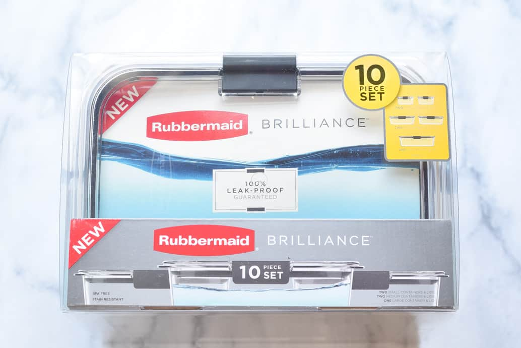 Rubbermaid clear containers