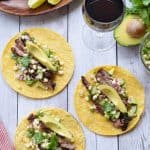 Steak Tacos With Cucumber and Corn Salsa