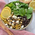 Black Lentil Salad with Corn