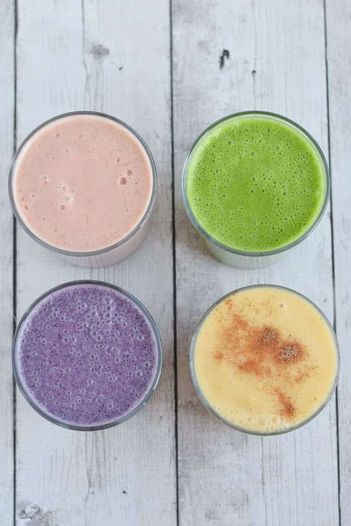 Cauliflower Smoothies four ways