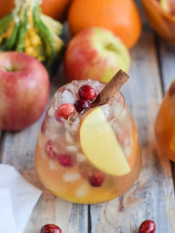 Pumpkin Apple Sangria in glass