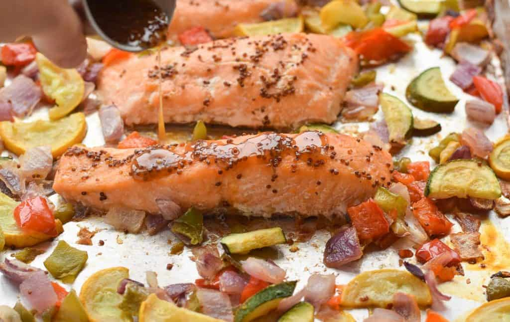 Sheet Pan Apple Cider Glazed Salmon