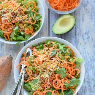 Sweet Potato Noodle Taco Salad