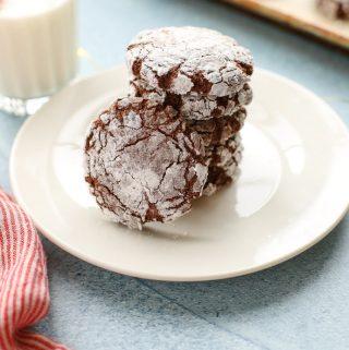 Chocolate Crinkle Cookies (Gluten Free)