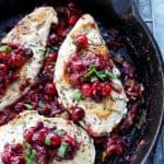 Skillet Cranberry and Leek Chicken