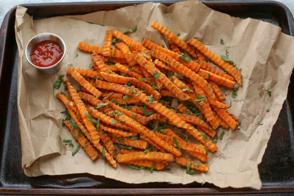 Oven Roasted Spiced Sweet Potato Fries