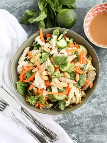 Skinny Vietnamese Chicken Salad with no dressing