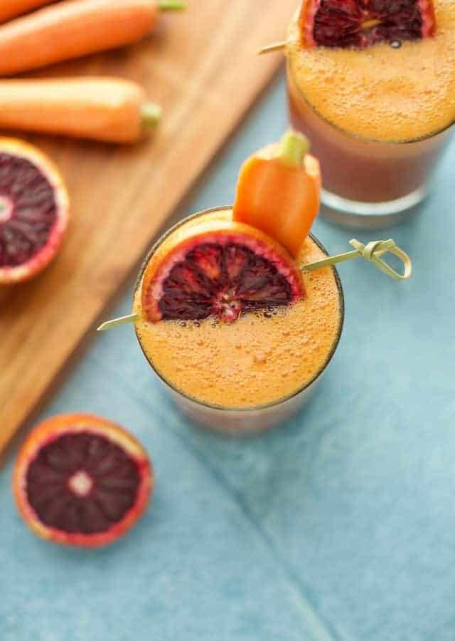 Blood Orange, Carrot and Turmeric Smoothie