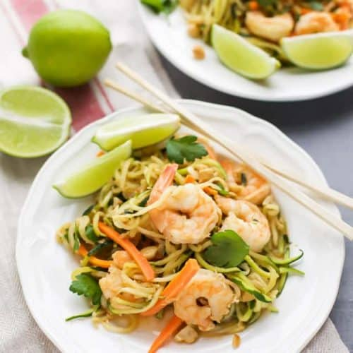 Zucchini Noodle Stir Fry with Shrimp