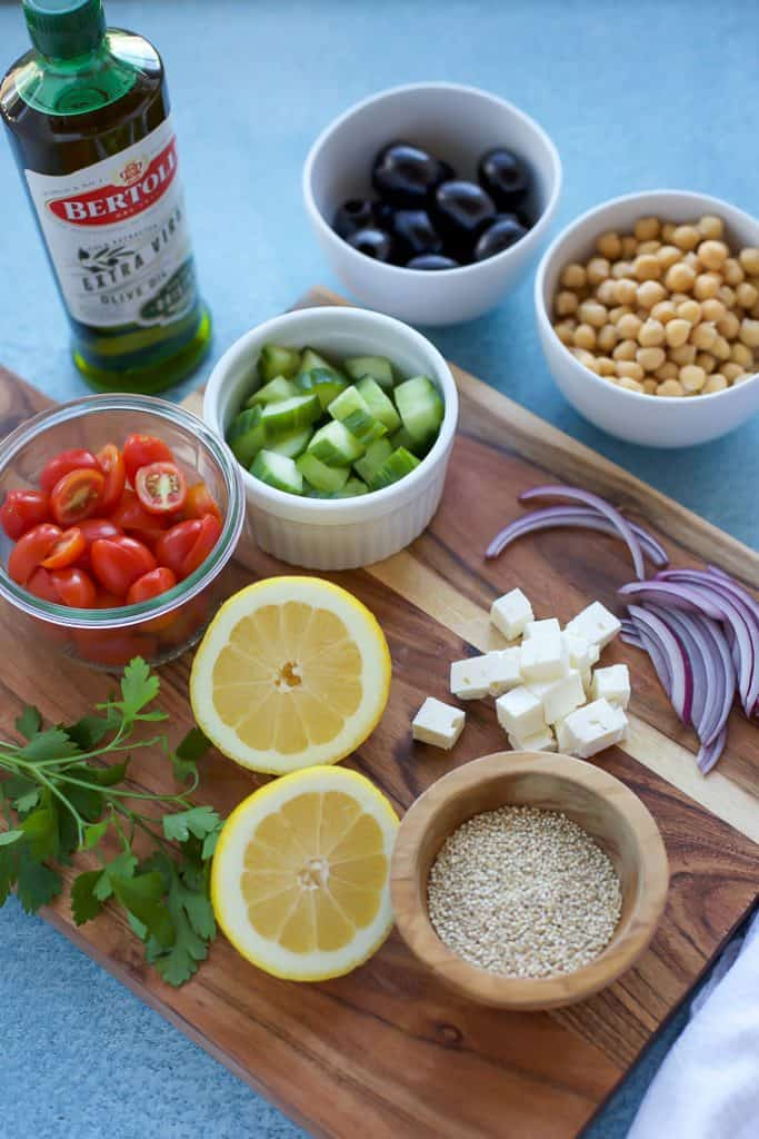 Greek Quinoa Salad Recipe ingredients