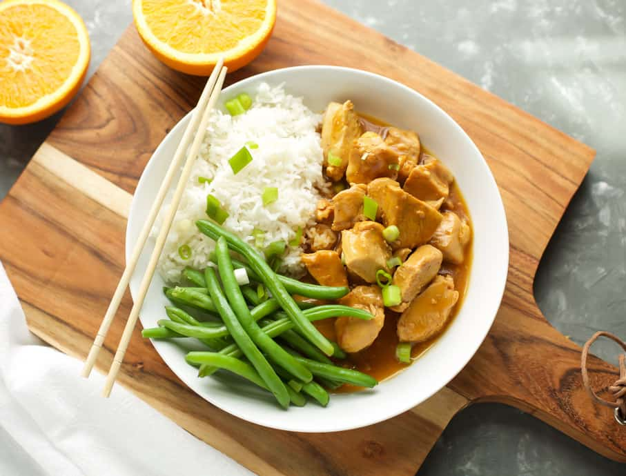 Instant Pot Orange Chicken with green beans