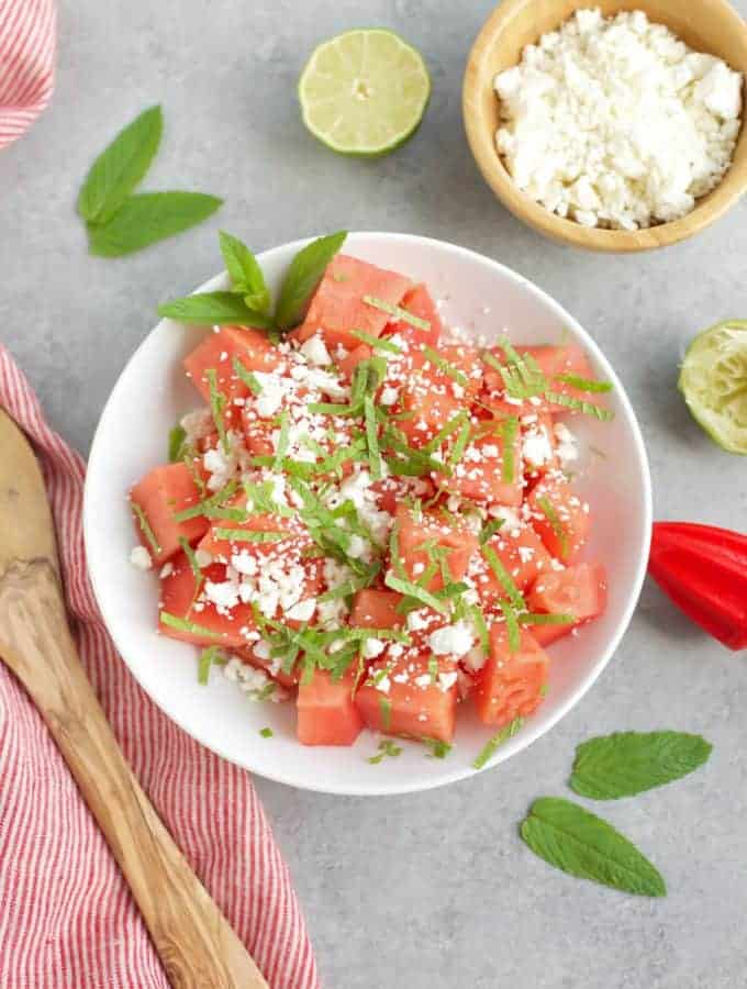 Skinny Watermelon Feta Salad