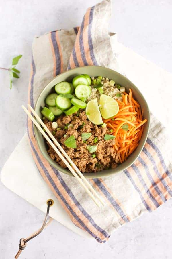 Indonesian Beef and Quinoa Bowl