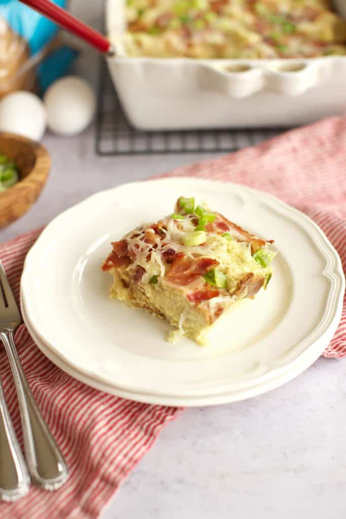 gluten free breakfast casserole overnight on a plate