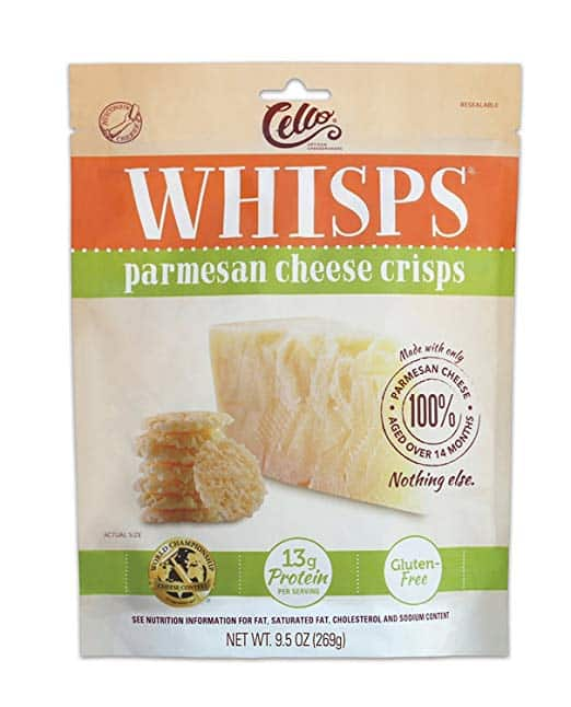 keto whisps parmesan cheese crisps