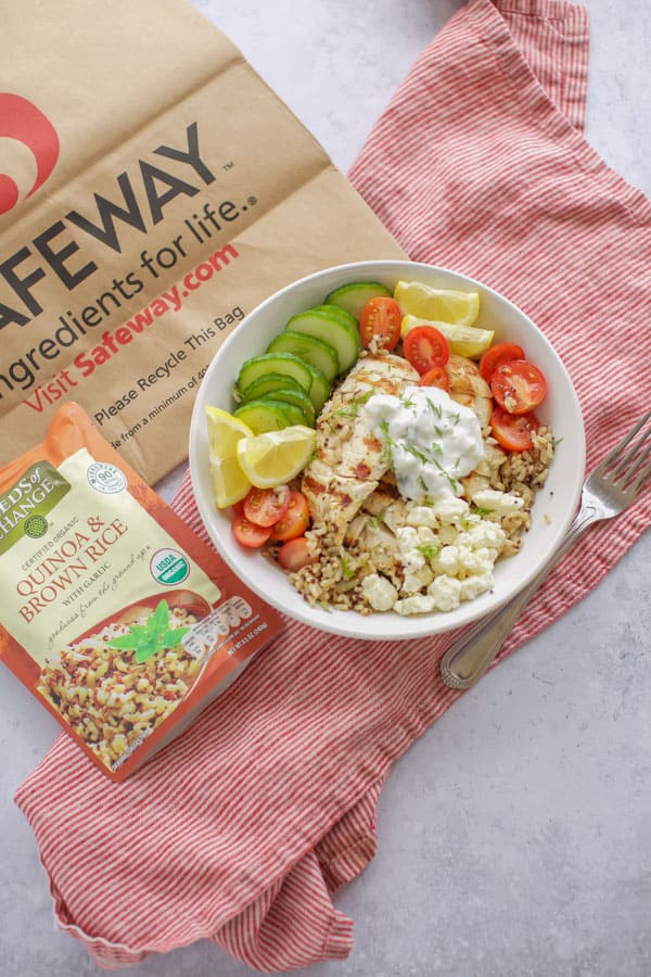 Chicken Gyro Bowl with quinoa