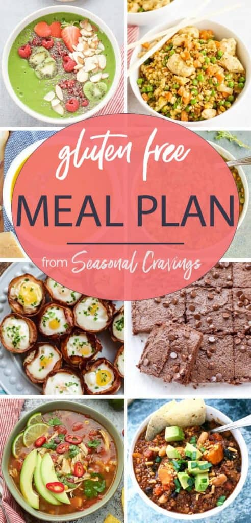 gluten free diet meal plan with lots of recipes