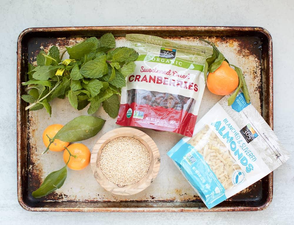 cranberry almond quinoa ingredients