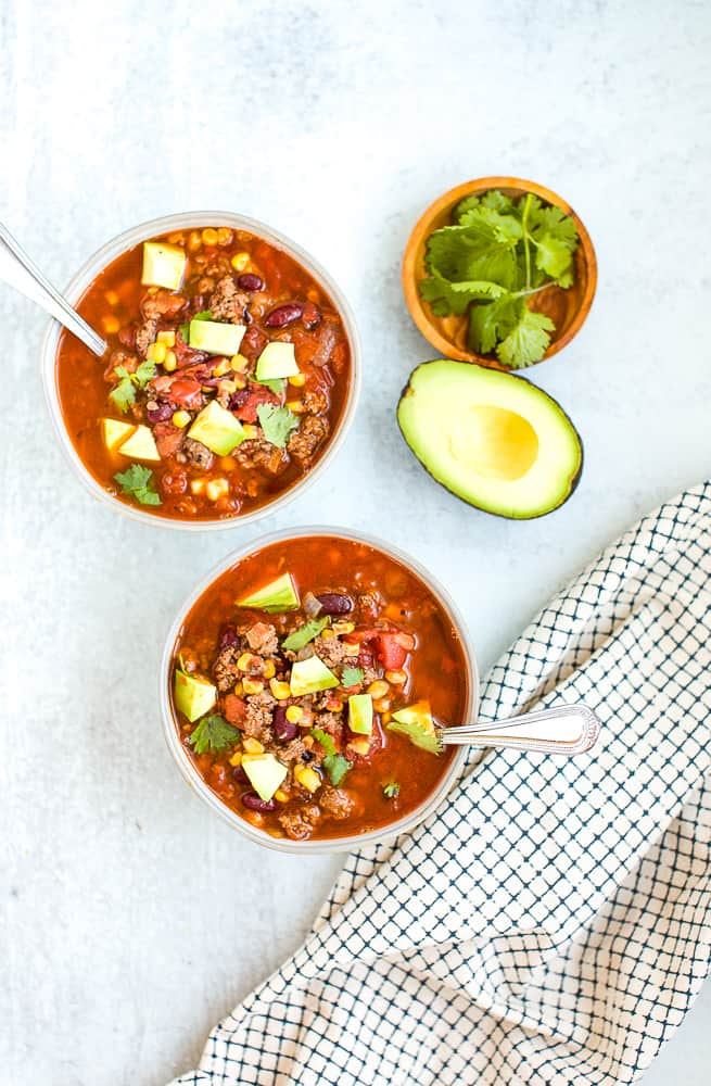 taco soup recipe with avocado