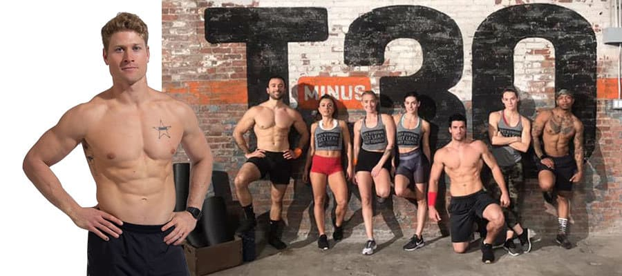 men and women posing in workout clothes