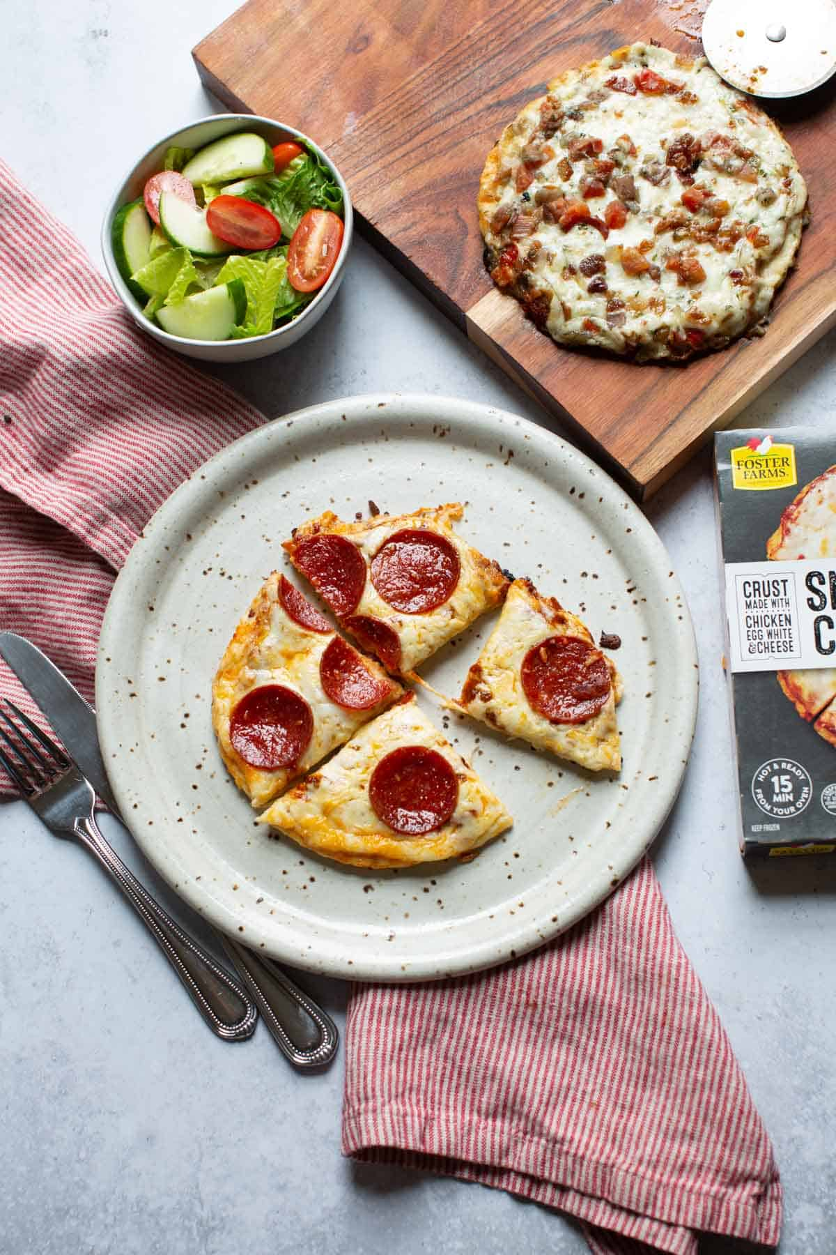 smart crust pizza on a plate