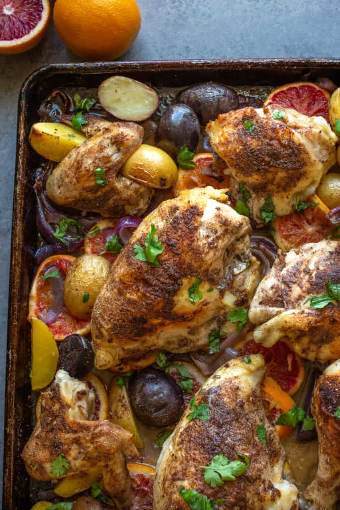 sheet pan chicken with potatoes