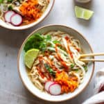 chicken pho with sriracha sauce